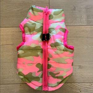 Adorable camouflage dog jacket size small